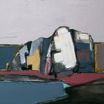Auchmithie cliff#1 Oil 74 x 61cm 2009