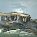 Cliff Face Oil 81 x 61cm 2008