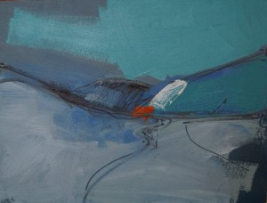 Dalveen Study - Blue 26 x 20cm Oil 2014