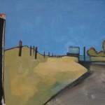 Fence Line Oil 69.5 x 80.5cm 2008