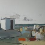 Outpost, 74 x 61 cm Oil 2013