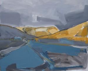 Over Dalveen East 74 x 58 cm Oil 2014