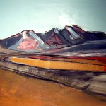 Red Cuillin#2 Oil 122x 91.5cm 2009