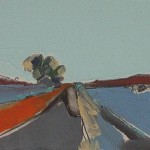 Tayvallich Road 22.5 x 16 cm Oil 2012