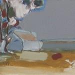 Towards Tayvallich 222.5 x 16 cm Oil 2012