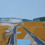 Tracklines 81 x 58cm Oil